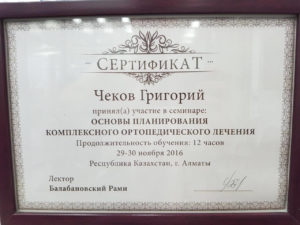 Документы на имя Чеков Григорий Сергеевич