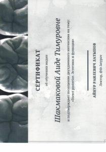 Документы на имя Шакмакова Аида Тимуровна